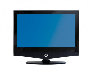 flatscreen LCD TV-Set isolated