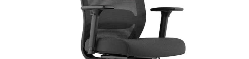 side view high back task chair