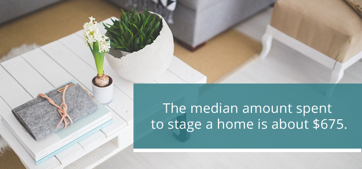 Median Spent to Stage Home $675