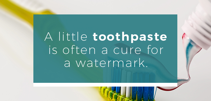 toothpaste removing watermark