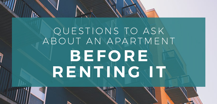 questions to ask about an apartment before renting it