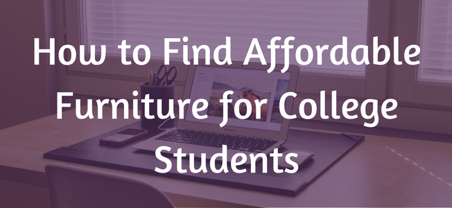 find affordable furniture for college students