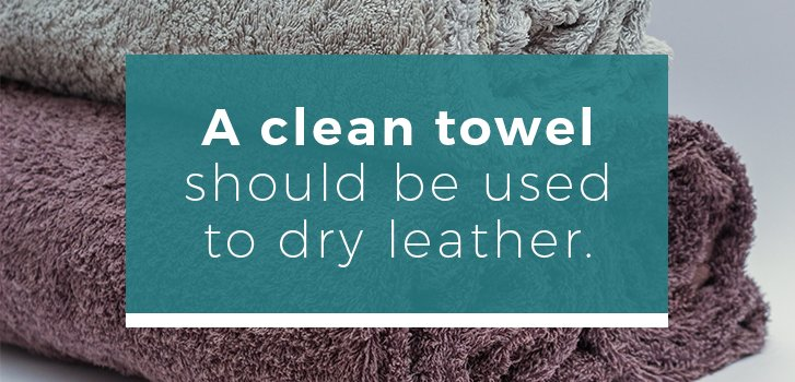 dry leather with a clean towel