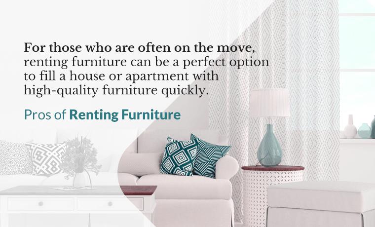 pros of renting furniture