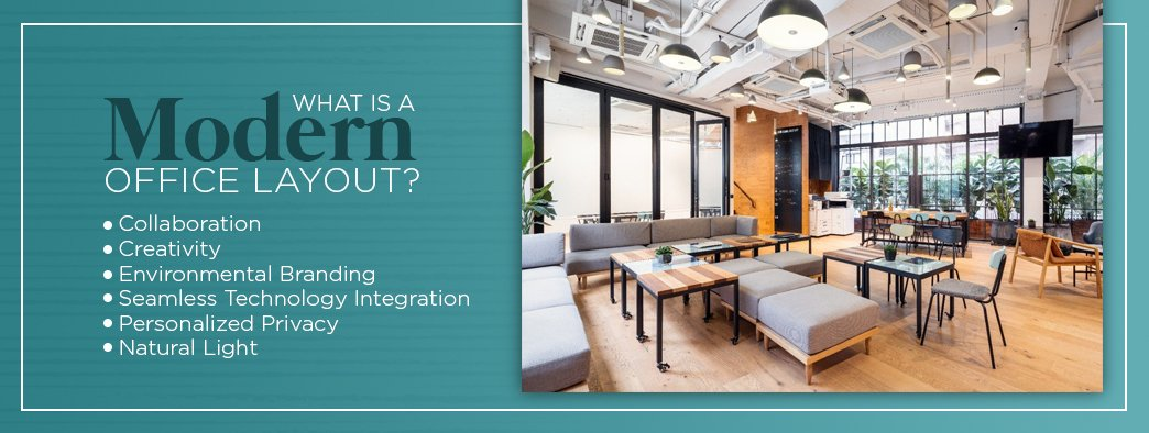 What is a modern office layout?